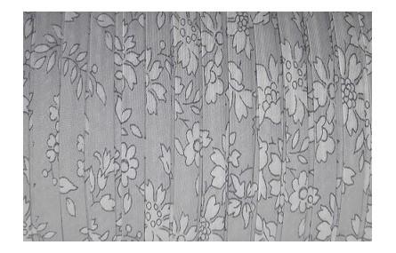 Lazo espaqueti 4mm liberty Flores grises