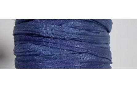 Cinta de seda Natural cosida 5-7mm Azul marino