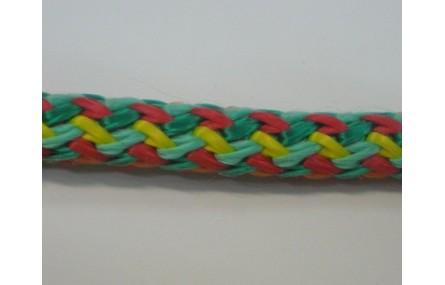 Cordón trenzado multicolor de 10mm Mezcla 4