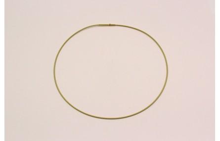 Collar acero espiral 1,4mm*42cms Dorado