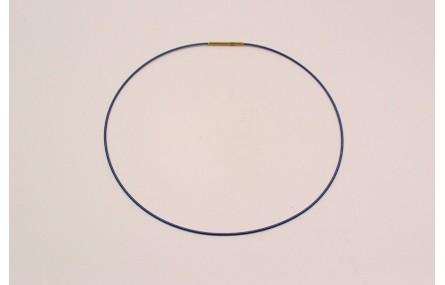 Collar acero espiral 1,4mm*42cms Morado